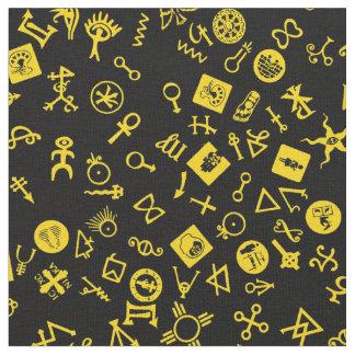 Tela Amarillo de Symbolicon en negro