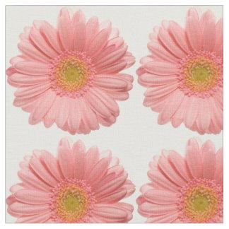 Tela amelocotonada floral elegante de la margarita
