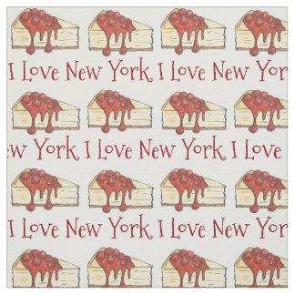 Tela Amo la rebanada del pastel de queso NYC de la