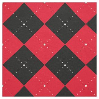 Tela Argyle negro roja cuadricula ajedrez plaid Pattern