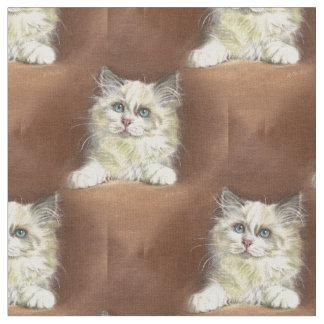 Tela Arte del gatito de la muñeca de trapo