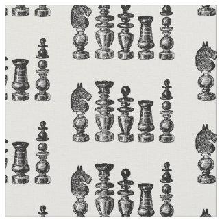Tela Arte del vintage de los pedazos de ajedrez