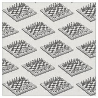 Tela Arte del vintage del tablero de ajedrez y de los