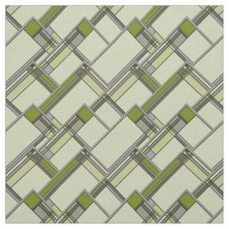 Tela Artes verdes maravillosos y modelo geométrico de