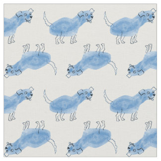 Tela azul del perro