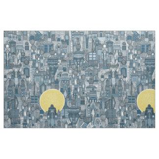 Tela azul del sol de la ciudad del espacio