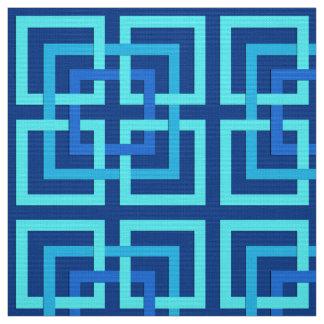 Tela Azul geométrico moderno de los cuadrados, del