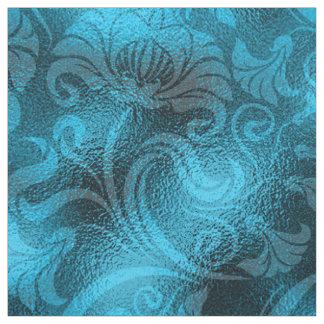 Tela Azules turquesas florales ID461 del reflejo del