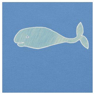 Tela Ballena azul de océano con efecto del vintage