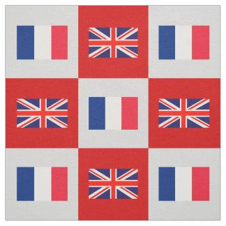 Tela Bandera BRITÁNICA, bandera de Francia en rojo y Lt