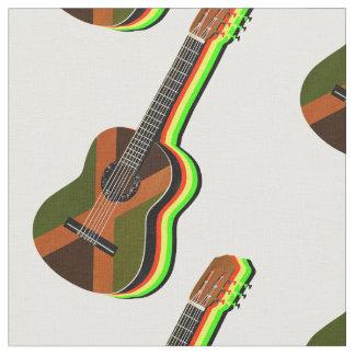 Tela Bandera jamaicana de la guitarra del reggae de