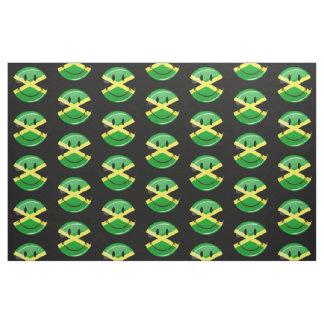 Tela Bandera jamaicana sonriente