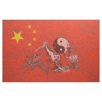 Tela Bandera y símbolos de China ID158
