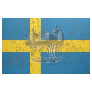 Tela Bandera y símbolos de Suecia ID159