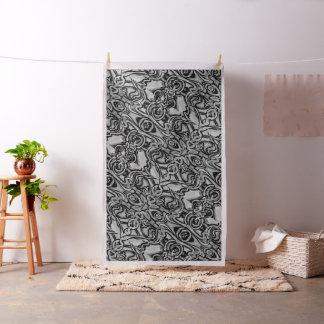 Tela blanco y negro abstracta