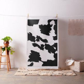 Tela blanco y negro de la impresión de la vaca