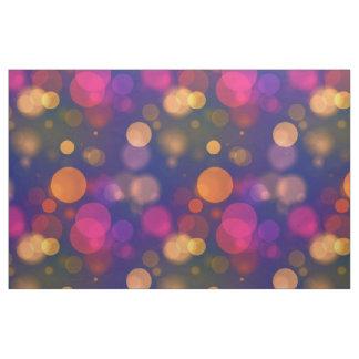 Tela Bokeh púrpura, azul, rosado brillante enciende el