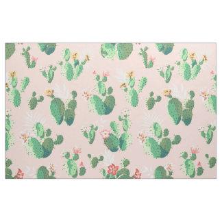 Tela bonita de la impresión del cactus