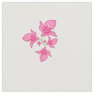 Tela Bougainvillea rosado floral