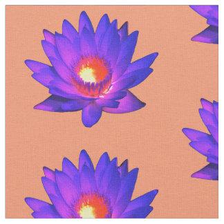 Tela brillante de la flor de Lotus