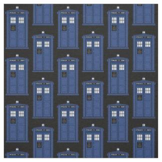 Tela británica azul de la caja de policía para el