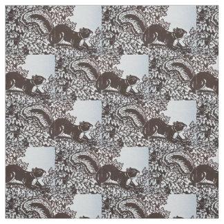 Tela Caída Brown del diseño de las hojas de la ardilla