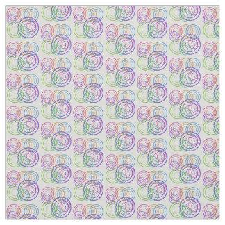 Tela Círculos multicolores