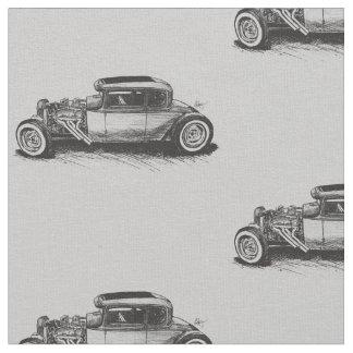 Tela clásica del coche de carreras