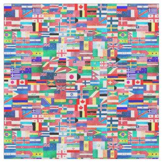 Tela Collage de la bandera del mundo