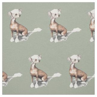 Tela con cresta china del arte del perro que se