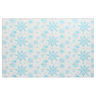 Tela congelada de la impresión del copo de nieve