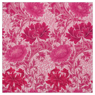 Tela Crisantemos de William Morris, rosa del fucsia
