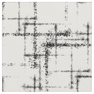 Tela cuadrados abstractos geométricos negros en