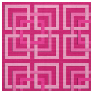 Tela Cuadrados geométricos modernos, fucsia y rosa