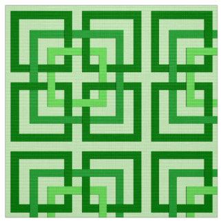 Tela Cuadrados, verde menta y esmeralda geométricos