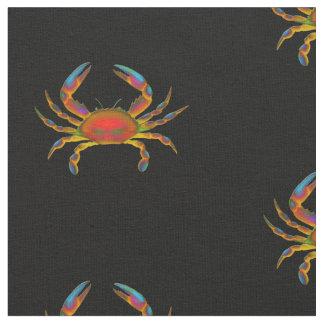 Tela de algodón colorida del cangrejo del océano