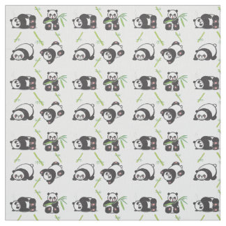 Tela de algodón de Pima de las pandas de Kawaii