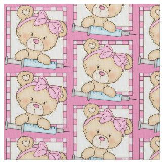 Tela de algodón de Pima del oso de la enfermera