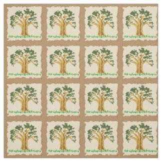 Tela de algodón del remiendo del árbol