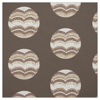 Tela de algodón peinada mosaico beige redondo