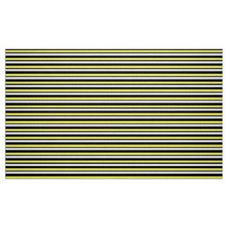 Tela de encargo amarilla y negra rayada