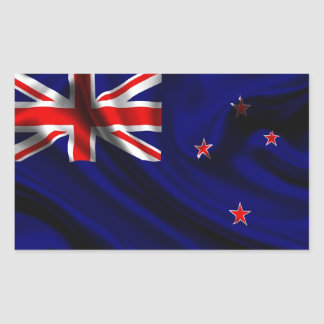 Tela de la bandera de Nueva Zelanda Pegatina Rectangular