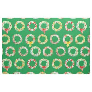 Tela de la decoración de la guirnalda del navidad telas