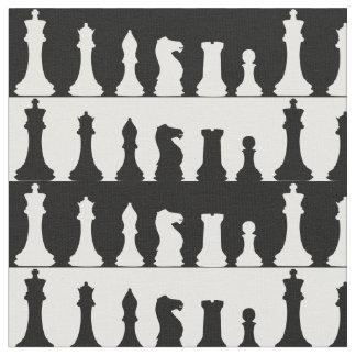Tela de la silueta de los pedazos de ajedrez