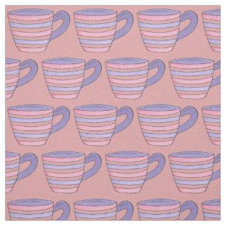 Tela de las tazas de té (taza de té rosada y telas