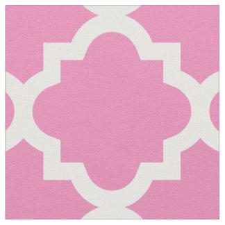 Tela de princesa Pink Quatrefoil Pattern el | Telas