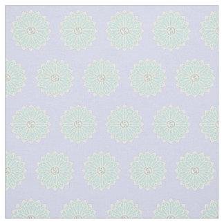 Tela de Yin Yang - blanca, azul claro, verde Telas