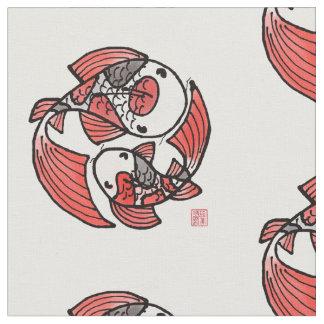 Tela del adorno de los pescados de Koi