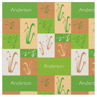 Tela del nombre de la hierba de pradera