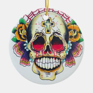 tela del ornamento de los cráneos